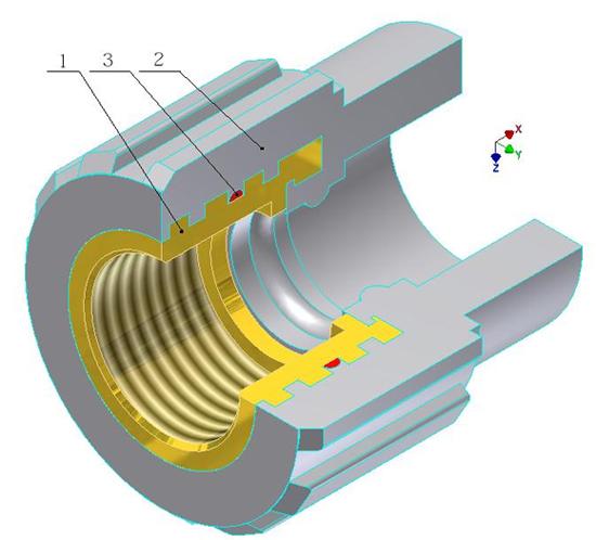 Фитинг – муфта комбинированная с внутренней резьбой.